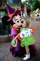 """Sarah said Minnie is saying, """"Lets go scare Mickey!"""""""