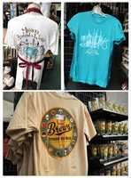The Brews Around the World merchandise includes shirts, sweatshirt, glassware and bottle opener.