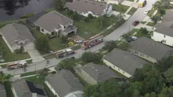 The Orange County Fire Department battled a house fire Thursday.