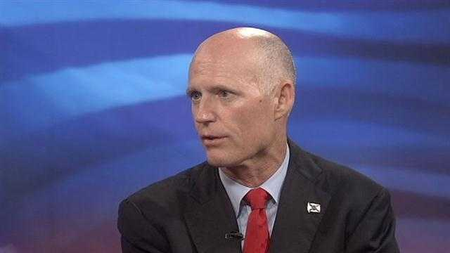Gov. Rick Scott says jobs are growing in Florida.