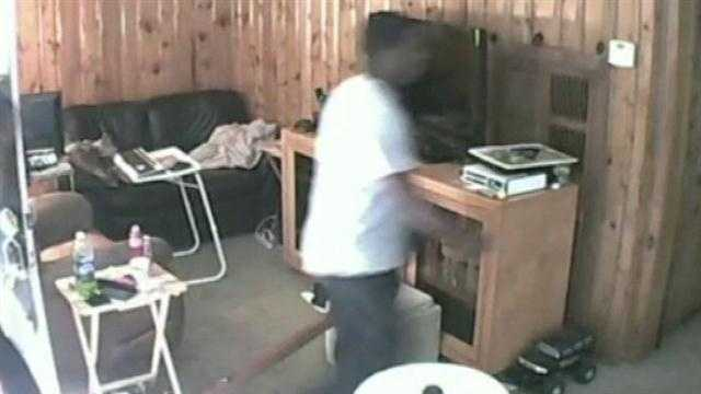 The hunt is on for three burglars who broke into a home in Apopka.