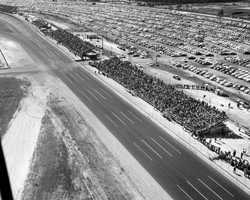 1959: The Daytona International Speedway opened in 1958 to replace the beach course.