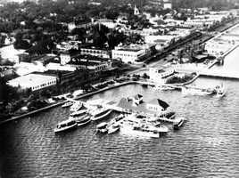 1928: The Yacht Club near Beach Street and the Halifax River.