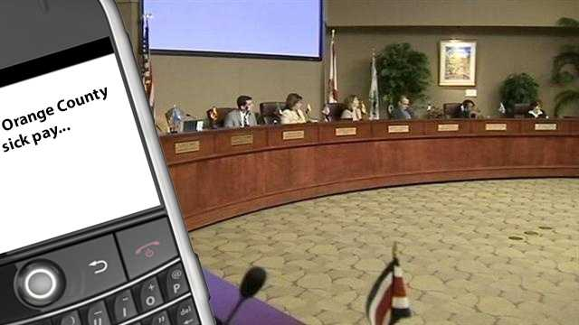 Sick pay text messages orange county commission