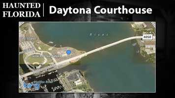 Daytona Beach Courthouse – Local ghost hunter Dusty Smith says one of the judges who once presided in a courtroom here still occupies the place today. Judge Beard was murdered along with his pet husky, Pepper. Some say the judge, and the dog, can be heard around the building.