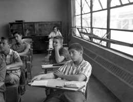 1958 - Students during Saturday classes at Glenridge Junior High School