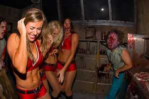 This was the fourth year the cheerleaders have experienced the haunted houses.