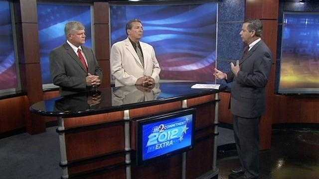 Republican Chris Blair and Democratic challenger, Bernie DeCastro, discuss topics within the Marion County Sheriff's race.