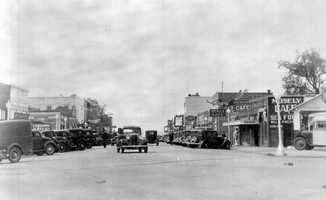 Panama City (Bay County): George West, the original developer of the town, named it Panama City because it is in a direct line between Chicago and Panama City, Panama. This 1930s photo shows downtown Panama City.
