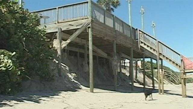 Sandy's erosion threatens Brevard Co. structures