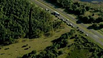 Officials are searching for two people that fled from a car after it crashed on U.S. 27 near the Turnpike.