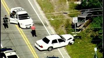 A crash involving law enforcement ended the police pursuit of an attempted murder suspect in Holly Hill on Tuesday morning.