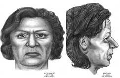 Jane Doe, killed in Jan. 2004Florida Department of Law Enforcement:These images are artists representations of how this unidentified victim may have looked while still alive. The victim's body was found concealed in a large duffel bag, on January 2, 2004, in the Indian Creek Water Way in Miami Beach. The victim has yet to be identified. Anyone with information on this crime or the identity of the victim is asked to please contact the Miami Beach Police Department, at (305) 673-7945 or Crime Stoppers at (305) 471-TIPS. CASE # 04-00201