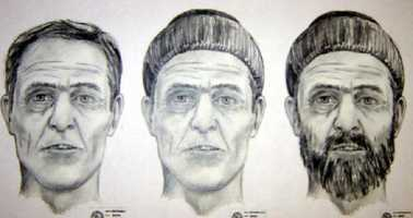 John Doe, killed in Jan. 2005Florida Department of Law Enforcement:The Tarpon Springs Police Department is attempting to identify the remains of a man discovered on January 12, 2005.The pictured composite was created from skeletal remains that were discovered in a wooded area in the of the 44000 block of U.S. 19 in Tarpon Springs on 01/12/05. The victim died from an apparent self inflicted gunshot wound. His physical description is: W/M, approx. 40-55 years of age, 508-603, possible salt and pepper colored hair.The following clothing was discovered on the victim: Size 10.5 Cross Trekker sneakersdenim pants (size 38x34) w/ a white rope around the waist that was being utilized as a beltColored medium sized button down shirt and a dark colored knit type watch cap Contact Det. Robert Faugno(727) 937-2549, Tarpon Springs Police Department with any information regarding this case. (TSPD case number 05-00142.)