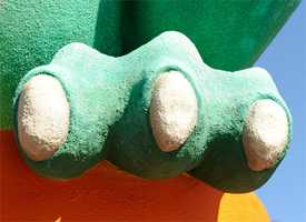 Somewhere in the Disney Parks is a huge green foot.  Have you seen it?