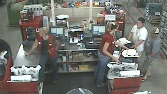 Marion County investigators said they are trying to identify two men accused of using stolen credit cards during a shopping spree.