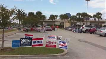 Voters line up in Daytona Beach.