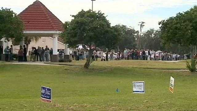 Long lines have been reported at several Orange County polling locations Tuesday.