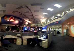 Here's a look at the newsroom on Election Night.