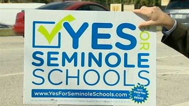 A new school tax was passed in Seminole County on Tuesday night.