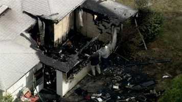 Flames rip through a home near State Road 408 and Semoran Boulevard.