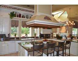 Kitchen island, not just for preparing meals but for dining as well.