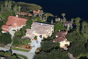 Aerial view shows off the home's 8,844 Sq Ft .