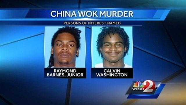 Persons of interest named in China Wok shooting
