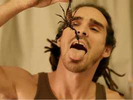 Daring Appetite- Louis Cole from London has an appetite that defies belief. The daring digester has downed some of the most disgusting things imaginable, including a very large and active scorpion.