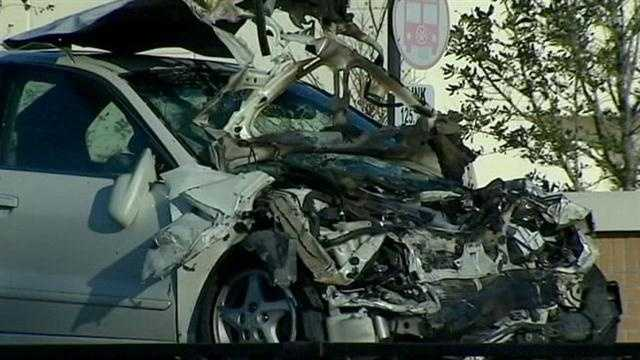 Four people were hurt in a crash on Silver Star Road near Evans High School early Monday that began with a police pursuit, according to Orange County Fire and Rescue officials.
