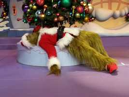 "Over at Islands of Adventure, the Grinch is ready (well, once he wakes up) for the ""Grinchmas Wholiday Spectacular."""