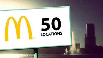 McDoubles and Big Macs and McCafe drinks are sold at 50 McDonald's restaurants across the City Beautiful.
