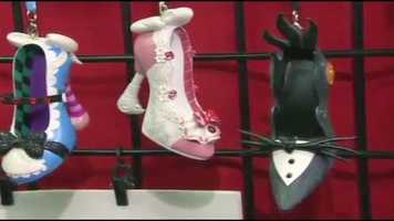 Shoe ornaments designed after Disney characters
