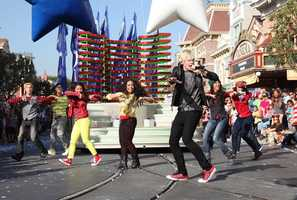 "Disney Channel star Ross Lynch performs during the taping of the 2012 ""Disney Parks Christmas Day Parade."""