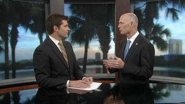 Florida's governor, Rick Scott, appears on WESH 2 News Sunrise and speaks with Jason Guy about jobs and a recent state trip to Colombia.