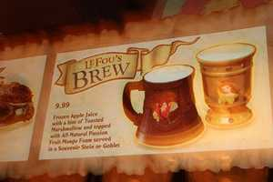 Samples of Gaston's LeFou's Brew was available for trying.
