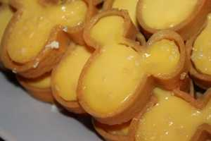 Custard in the shape of Mickey Mouse