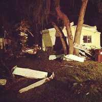 A presumed tornado tore through a south Volusia County neighborhood.