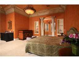 This is one of five bedrooms that includes custom interior design that gives this room plenty of personality.