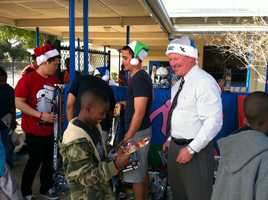 Orlando Mayor Buddy Dyer adds Santa's Helper to his lists of titles Thursday.