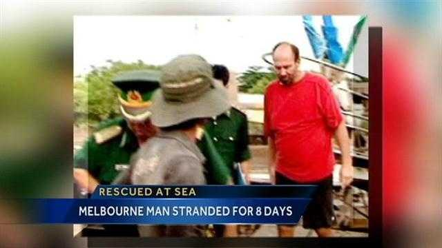 A 54-year-old Melbourne man was rescued after being stranded in the ocean for eight days.