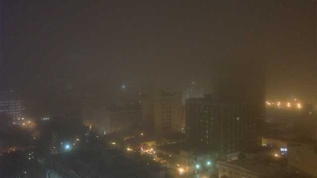 Fog over downtown Orlando