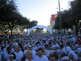 The streets of Orlando were colorfully painted Sunday, and so were 10,000 runners who ran them.