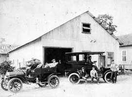 1919: A car dealer and repair shop located on the southwest corner of South Apopka Avenue and Main Street.