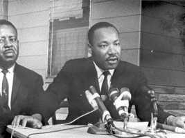 Ralph Abernathy and Martin Luther King, Jr. in Saint Augustine, Fla., in 1964.