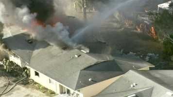 Orange County Fire Rescue battled a large apartment fire Wednesday.