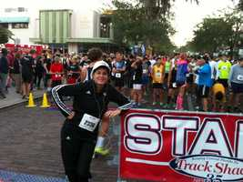 WESH 2 reporter Michelle Meredith and First Alert Meteorologist Eric Burris ran the Track Shack-Seasons 52 Park Ave. 5.2K on Saturday morning. Check out some of the pictures they took along the way.