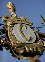 "Can you figure out where you would find this Cinderella ""C"" at the Disney parks or resort?  You have to be looking in the right direction to see it."