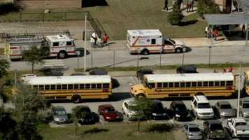 Emergency responders were called to Osteen Elementary in Volusia County after reports of children ingesting a substance.