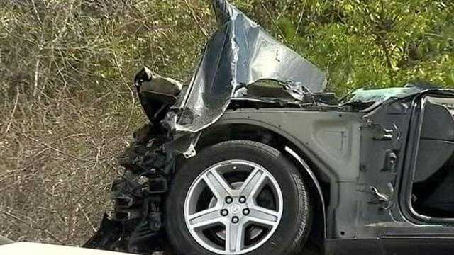 A man was killed and a woman and child were airlifted to the hospital after a crash in Lake County on Monday morning, according to Florida Highway Patrol.